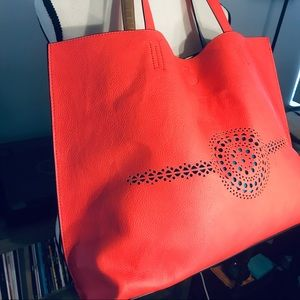 Large Coral Cutout Tote✨